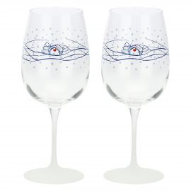 "Set wine glasses ""Chiaro di luna"""