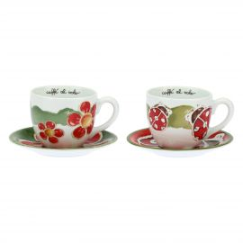 Set of 2 big cups Happy