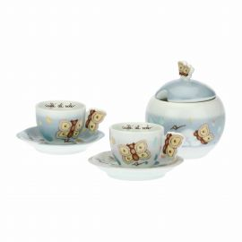"Set 2 coffee cups and sugar bowl ""Pioggia di colori"""
