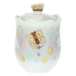"Jar ""Pioggia nuvole"" with ladybirds"