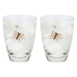 """Set 2 bicchieri in vetro """"Pioggia di colori"""""""