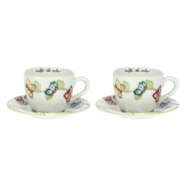 "Set of 2 ""Farfalle in Festa"" large cups"