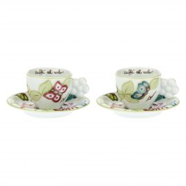 "Set of 2 ""Farfalle in Festa"" coffee cups"
