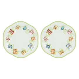 "Set of 2 ""Farfalle in Festa"" small plates"