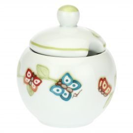 """Farfalle in Festa"" porcelain sugar bowl"