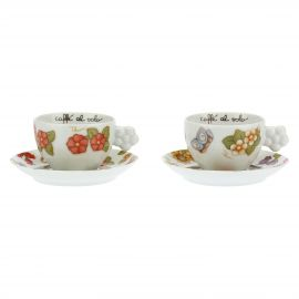 Set 2 medium cups Country