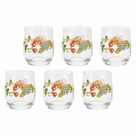 Set 6 water glasses Country