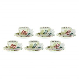 "Set of 6 ""Farfalle in Festa"" coffee cups"