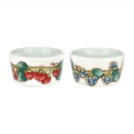 "Set of 2 medium ""Teddy goloso"" multipurpose porcelain bowls"