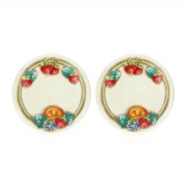 "Set of 2 ""Teddy goloso"" porcelain small plates"