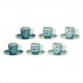 Set mit 6 Espressotassen Mare