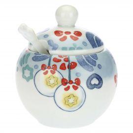 Zuccheriera in porcellana con cucchiaino Dolce Inverno