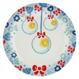 Dolce Inverno small plate with Christmas decorations