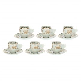 Set of 6 Gold Icons coffee cups