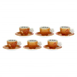 "Set of 6 ""Savana story"" coffee cups"
