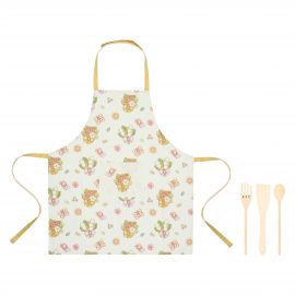 Set of Country apron with 3 ladles