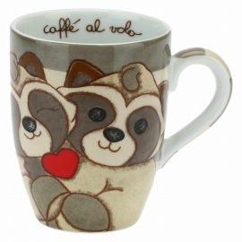 Funny Days pair of raccoons in love mug