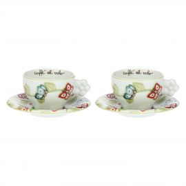 "Set of 2 ""Farfalle in Festa"" medium cups"