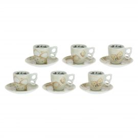 Set of 6 Elegance coffee cups