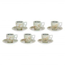 Set 6 tazzine caffè Elegance