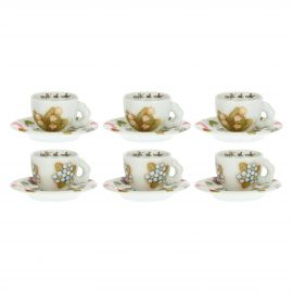 Set of 6 Country coffee cups