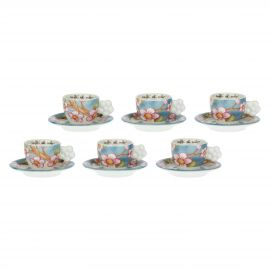Set of 6 Fiori Di Pesco coffee cups