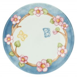 Fiori Di Pesco multipurpose plate with butterflies