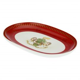 Dolce Natale oval multipurpose plate