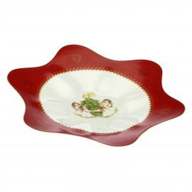 Dolce Natale star-shaped multipurpose plate with angels