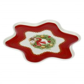 Dolce Natale star-shaped multipurpose plate