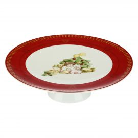 Dolce Natale porcelain cake stand