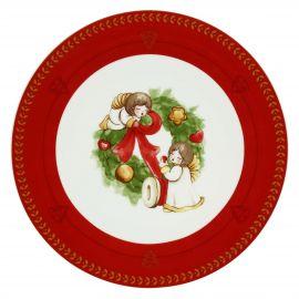 Piatto Dolce Natale multiuso con angeli