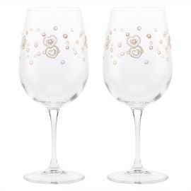 Set of 2 Gold Icons wine glasses