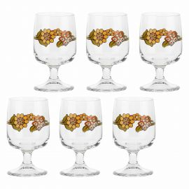 Set of 6 small Country wine glasses