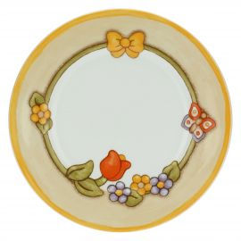 Small Country plate with bouquet of flowers