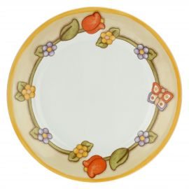 Multipurpose Country plate with floral border