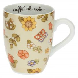 Country mug with flowers and sunflowers
