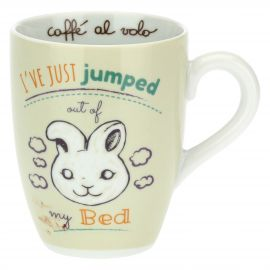Mug with rabbit - I've just jumped out of my bed