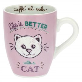 Mug with cat - Life is better with a cat