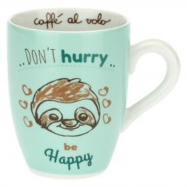 Mug con bradipo - Don't hurry, be happy