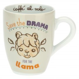Mug with Lama - Save the drama for the llama