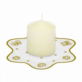 Gold Icons candle with candle plate