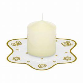 Candela con piattino porta candela Gold Icons