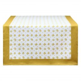 Gold Icons table runner