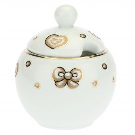 Gold Icons porcelain sugar bowl