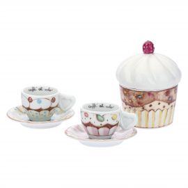 Set mit 2 Espressotassen und Zuckerdose Sweetcake