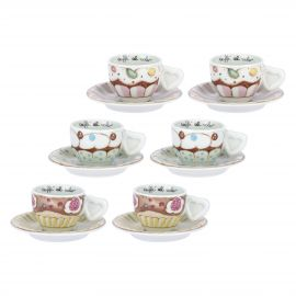 Set of 6 Sweetcake coffee cups