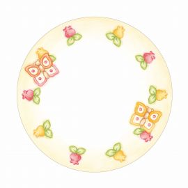 Small Grace plate with butterfly