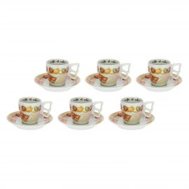 Pack of 6 grace coffee cups