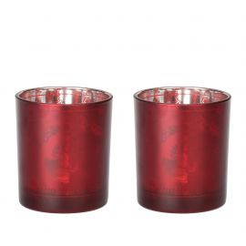 Set 2 bicchieri con tealight